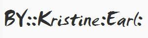 Signature - :Kristine :Earl - The Inner Biochemist -